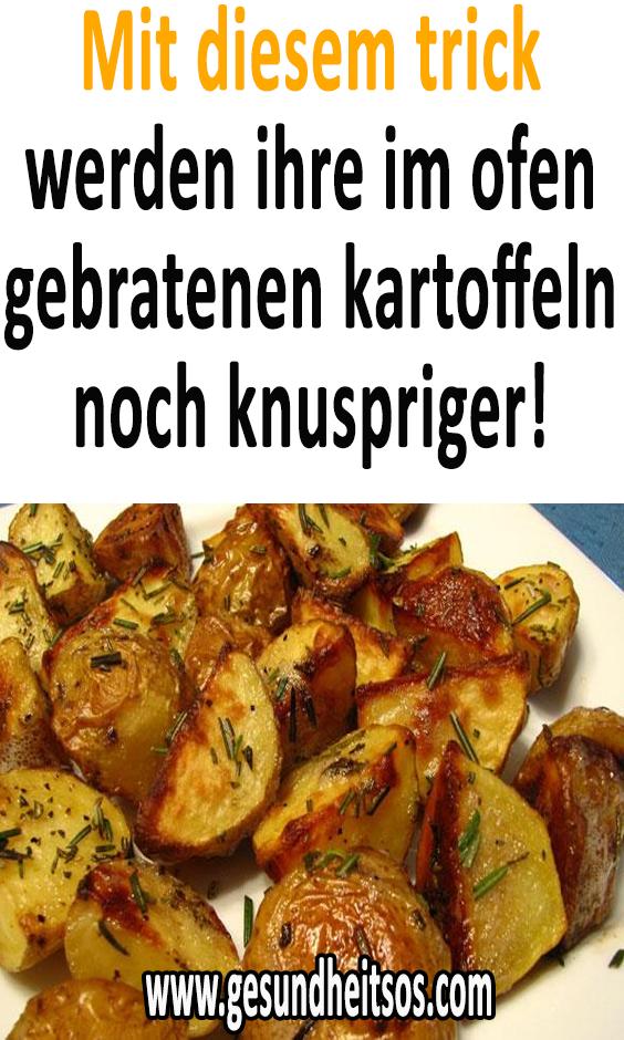 Mit diesem trick werden ihre im ofen gebratenen kartoffeln noch knuspriger! #kartoffelnofen