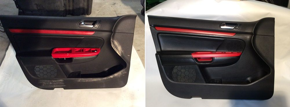 Customized door panel with trim color matched to car exterior. Fibrenew provides professional superior results & Customized door panel with trim color matched to car exterior ... Pezcame.Com