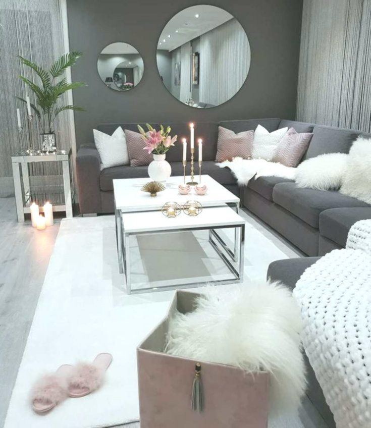 We Love This Dark Grey And Dusty Pink Cozy Living Room Decor Livingroom Decor Living Room Decor Cozy Living Room Decor Living Room Decor Apartment