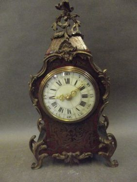 A C19th French Boule Mantle Clock With Ormolu Mounts