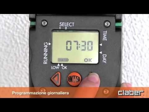 Programmatore Centralina Irrigazione Claber Aquauno Video