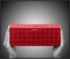 Bigger version of Jambox Wireless Speakers with 15-hour battery life and it can sync with up to 2 devices at the same time