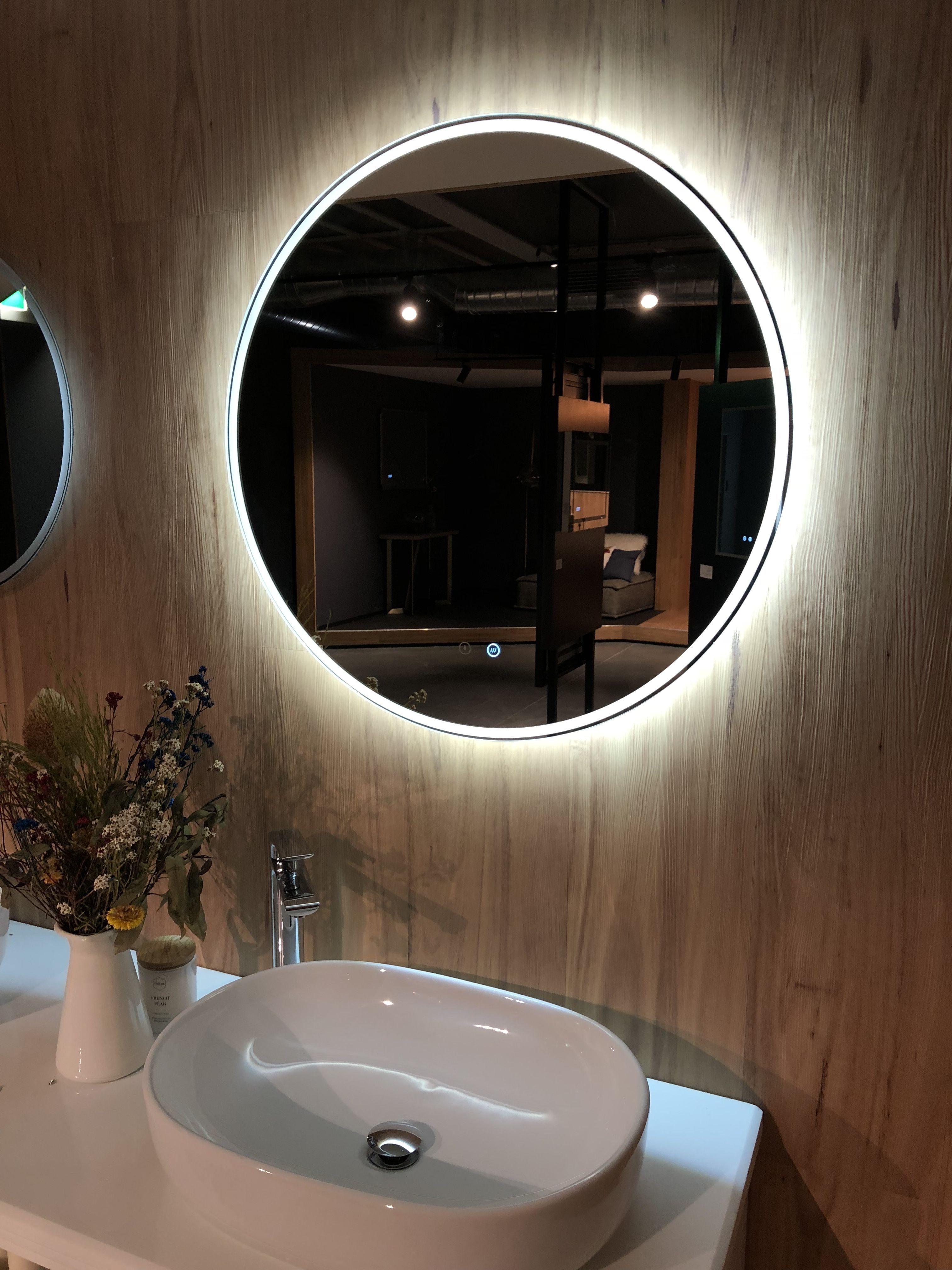Backlit Mirror Remer Round A Mirror Circle Mirror Sphere Mirror Led Mirror Demister Pad Demister M Bathroom Mirror Lights Bathroom Mirror Glass Bathroom