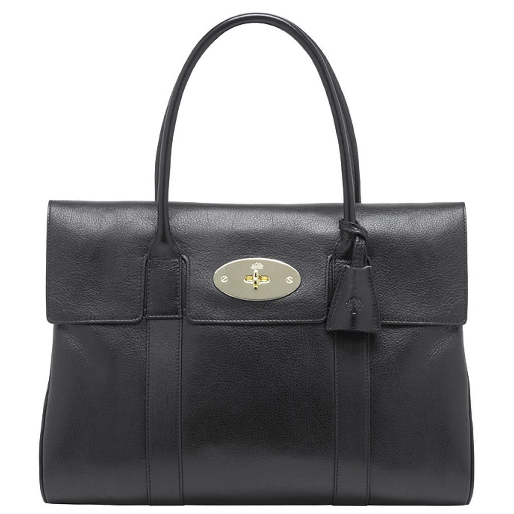 8aa392b27b0 Mulberry Bayswater Black Soft Spongy Leather 10 1/2