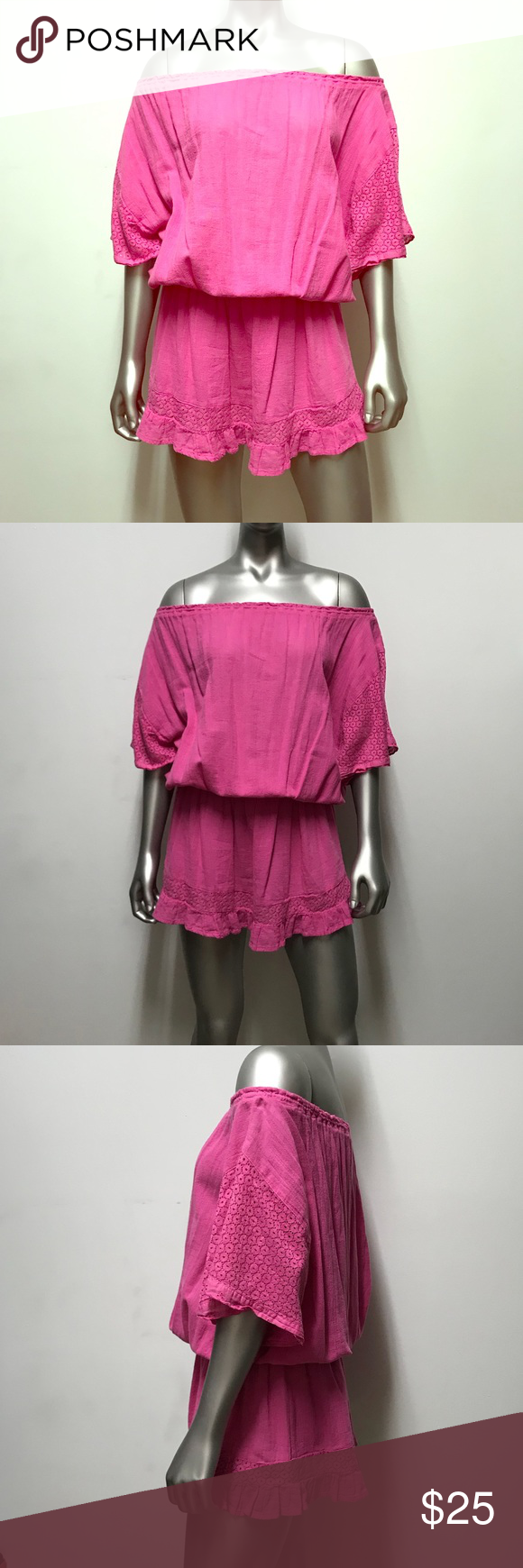 9dfb5b834d9 Victoria Secret pink beach cover up dress small Victoria secret off the  shoulder dress or beach cover up in a size small. Hot pink, excellent  condition!