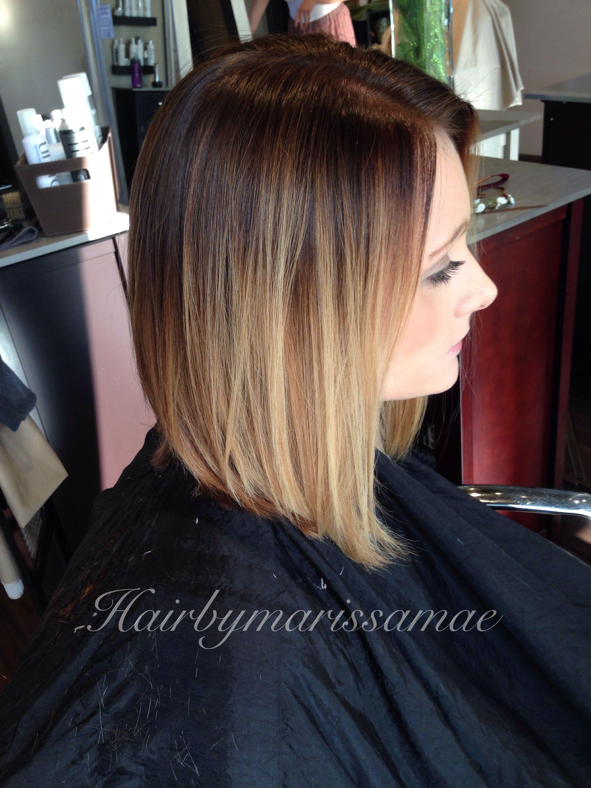 ombr233 on a long aline my work dyed hair hair styles hair