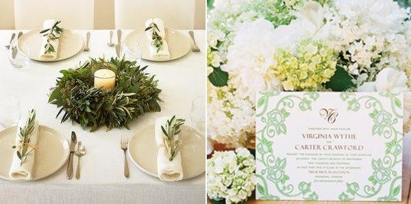 Olive Green Wedding Colour Palette