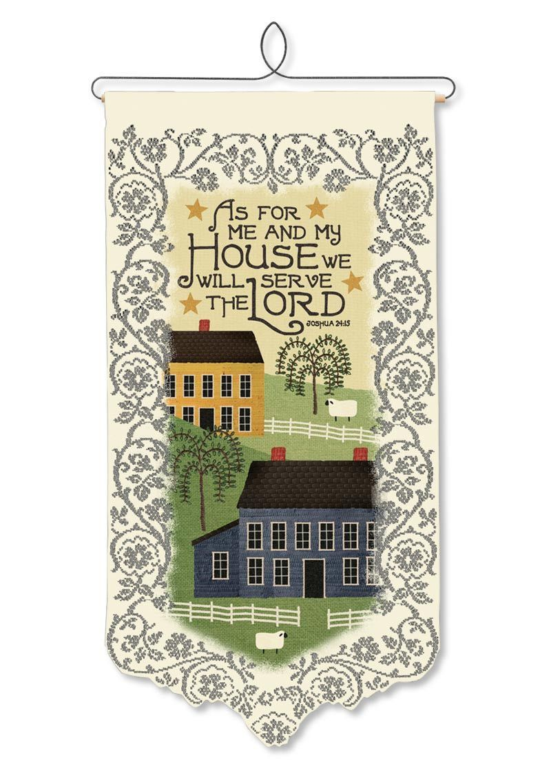 Wall Hanging - As For me and My House (Folk Art)