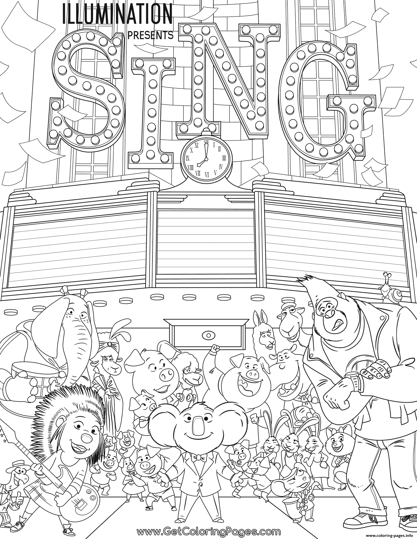 Print Movie Sing coloring pages | and the teachers in 2019 ...
