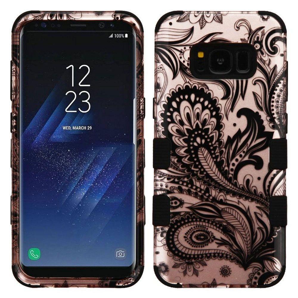 Mybat For Samsung Galaxy S8 Rose Gold Black Phoenix Flower Hard Hybrid Case Cover Galaxy S8 Samsung Galaxy Phone Cases Samsung Galaxy