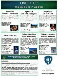 July 30-31 Weekend in Big Bear