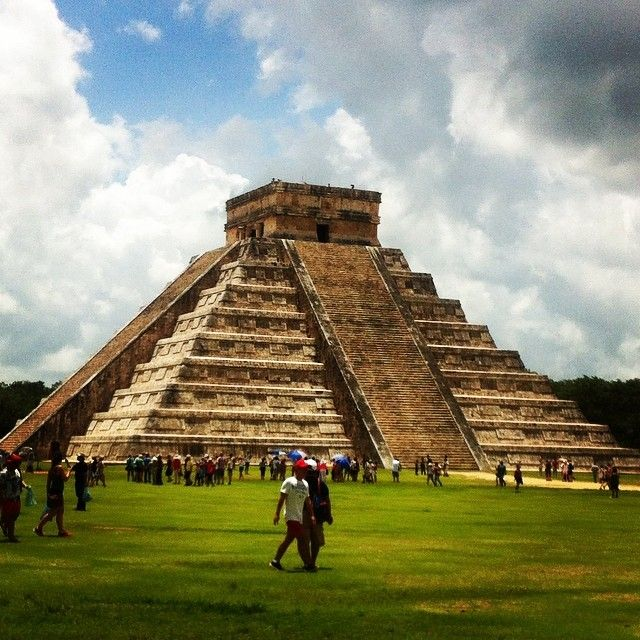 These Mayan ruins are just a short bus trip from the beaches in Cancun!