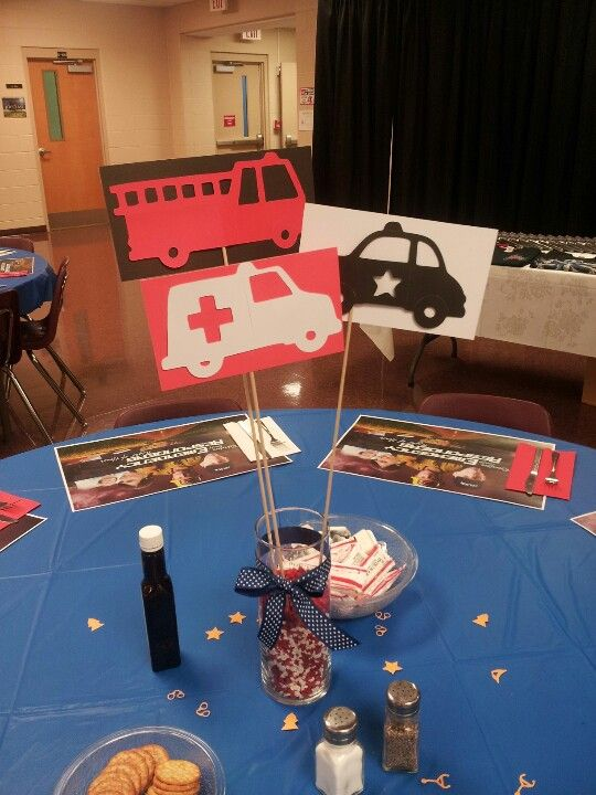 Centerpieces for the first responders