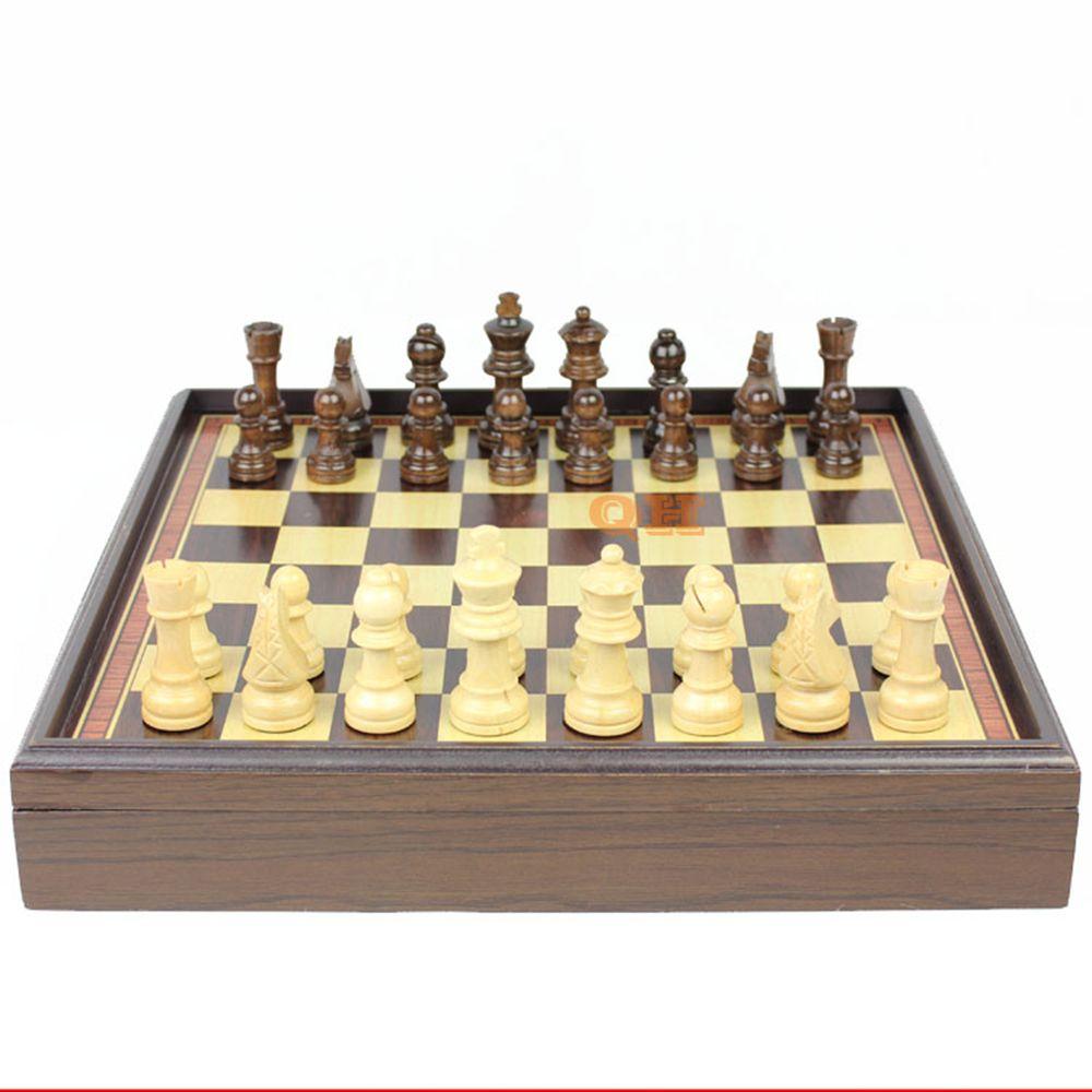 International Chess Checkers Highgrade wood