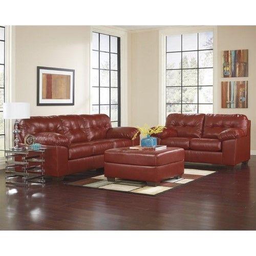 Best Ashley Furniture Alliston 2 Piece Leather Sofa Set With 400 x 300