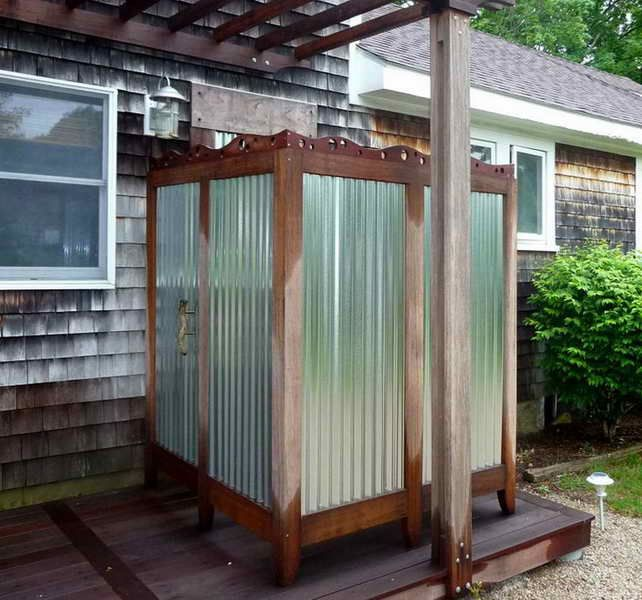 outdoor shower kit enclosure Google Search Camp landscape ideas