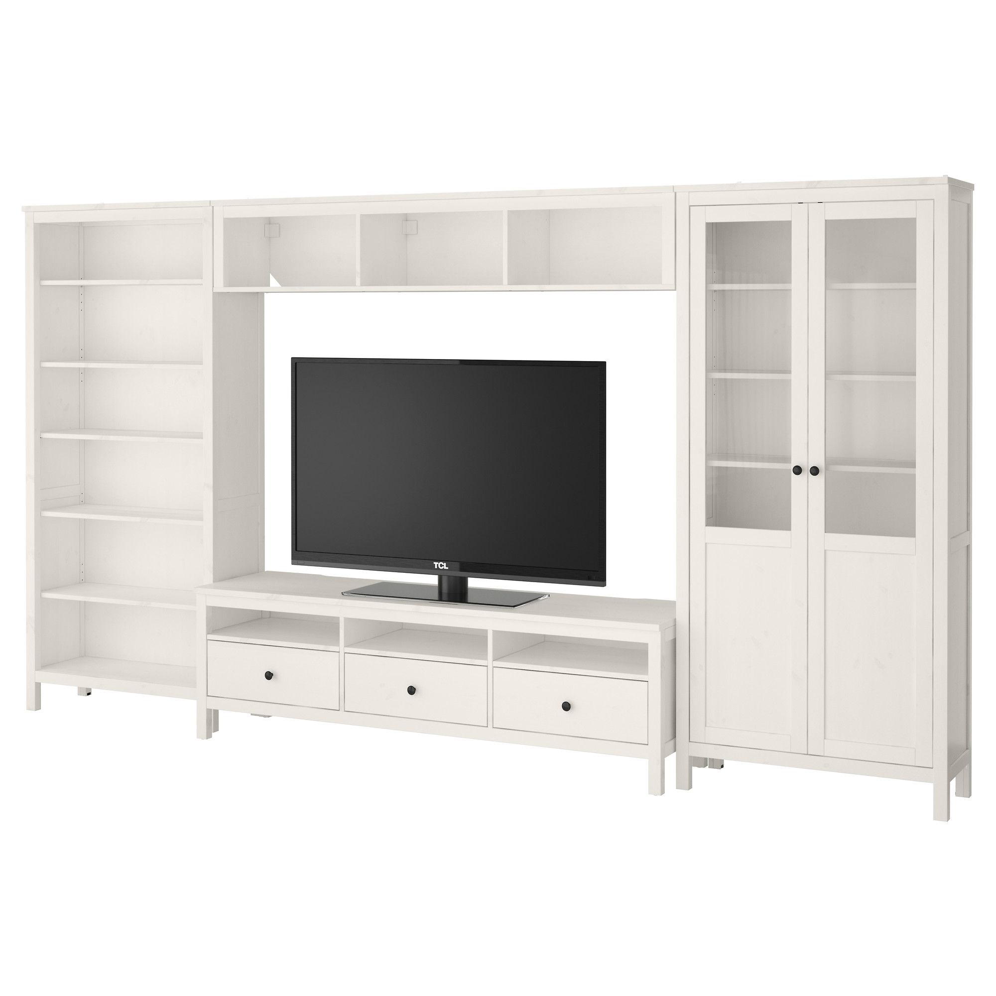 HEMNES TV storage combination - white stain - IKEA | Craft ...