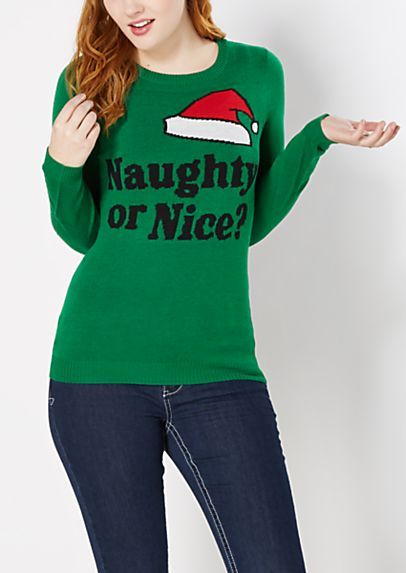 Naughty or Nice Ugly Christmas Sweater | rue21 - CHOMBAS ...
