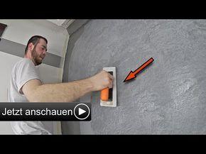 betonoptik selber machen i alpina wand spachteltechnik zum streichen youtube bau pinterest. Black Bedroom Furniture Sets. Home Design Ideas