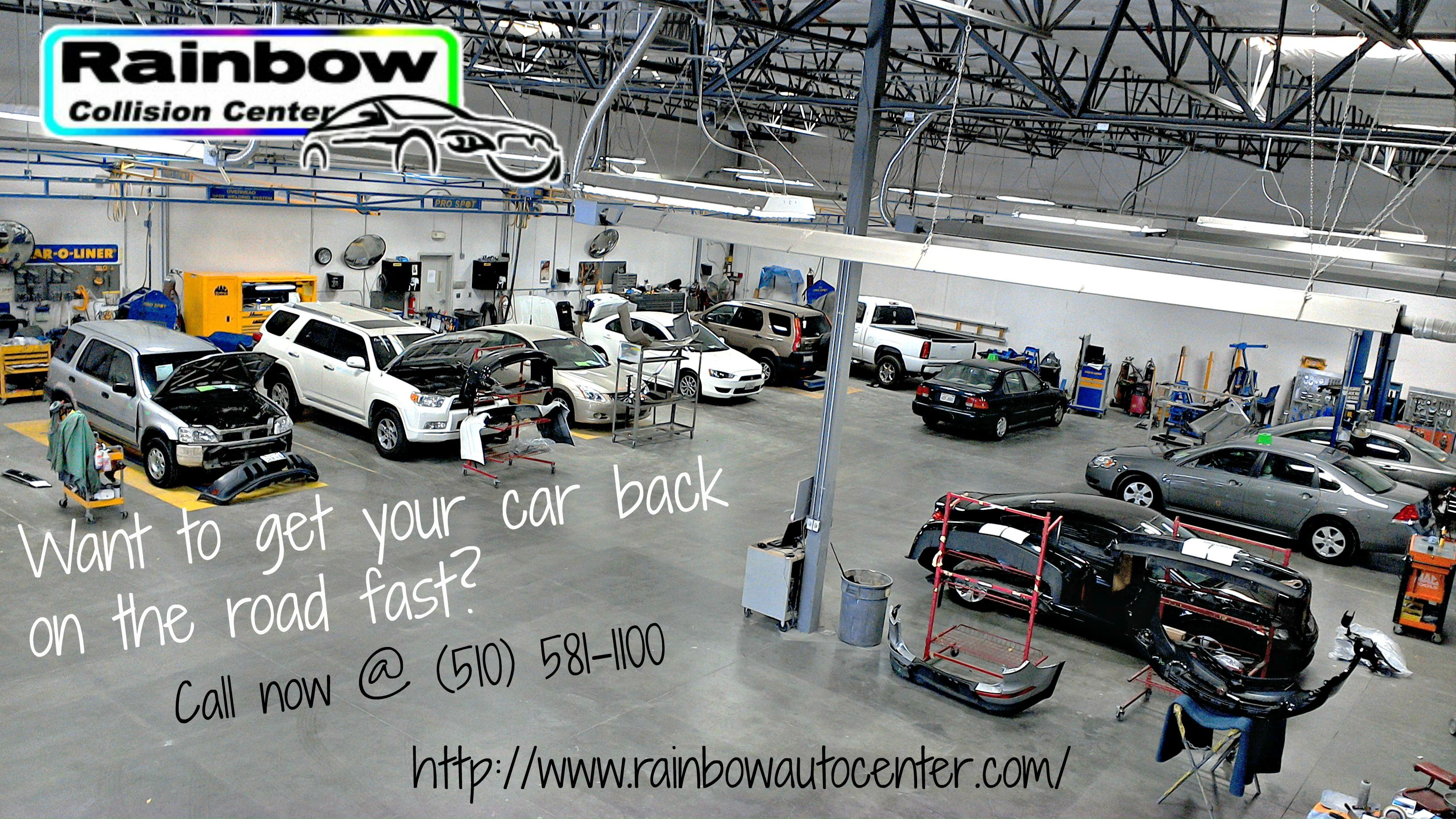 An auto body repair provides methods for fixing