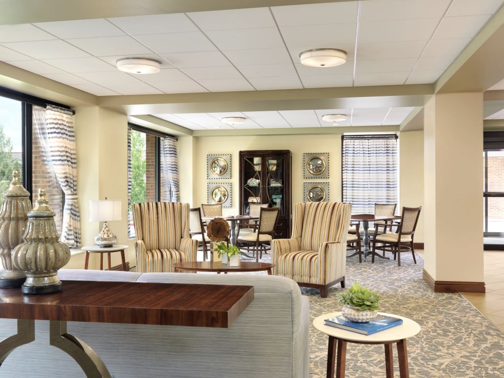 Bethesda Dilworth Senior Living furnishings by Spellman Brady & Company furniture dealership services