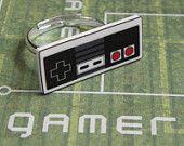 GIRL GAMER Nintendo controller ring, via Etsy.