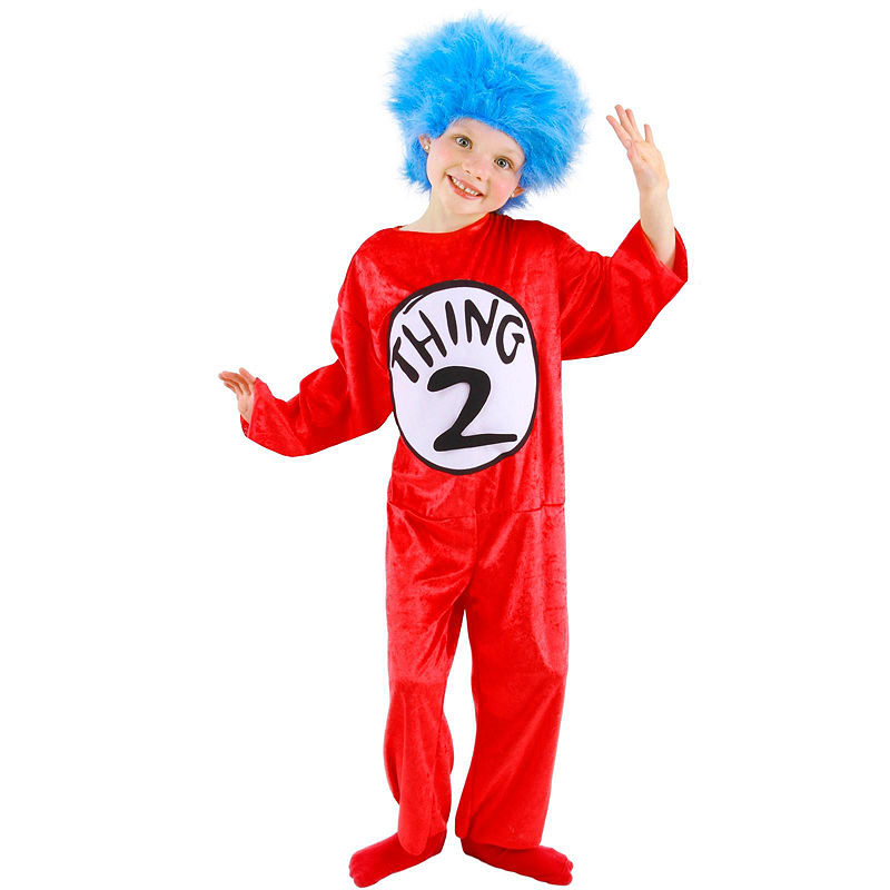 Dr Seuss - Thing 1 or 2 Child Costume Children costumes and Products - dr seuss halloween costume ideas