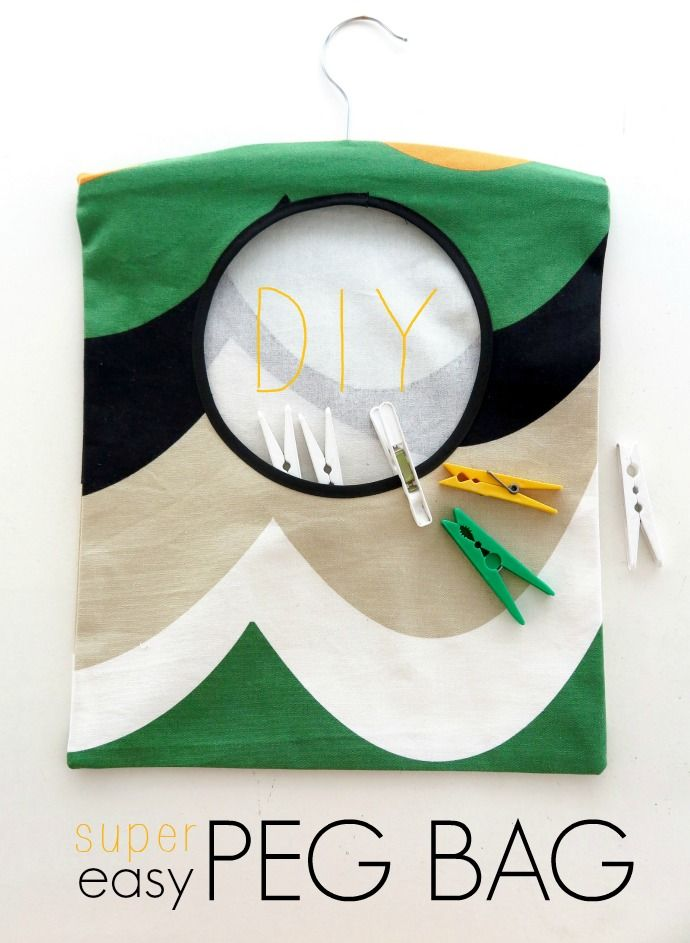 DIY Super Easy Peg Bag | Awesome Resources | Pinterest | Costura ...
