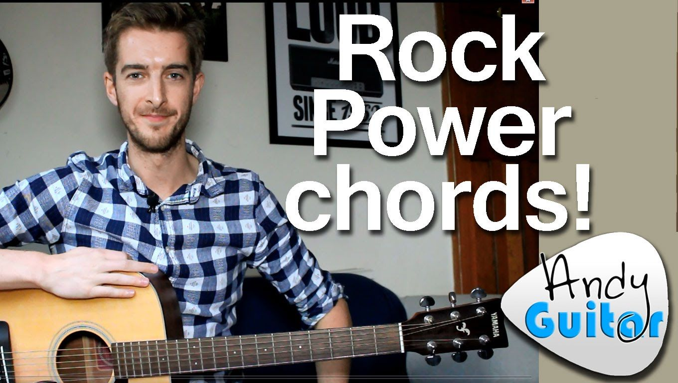 Very Easy Rock Power Chords How To Play Easy Rock Guitar Like Ac