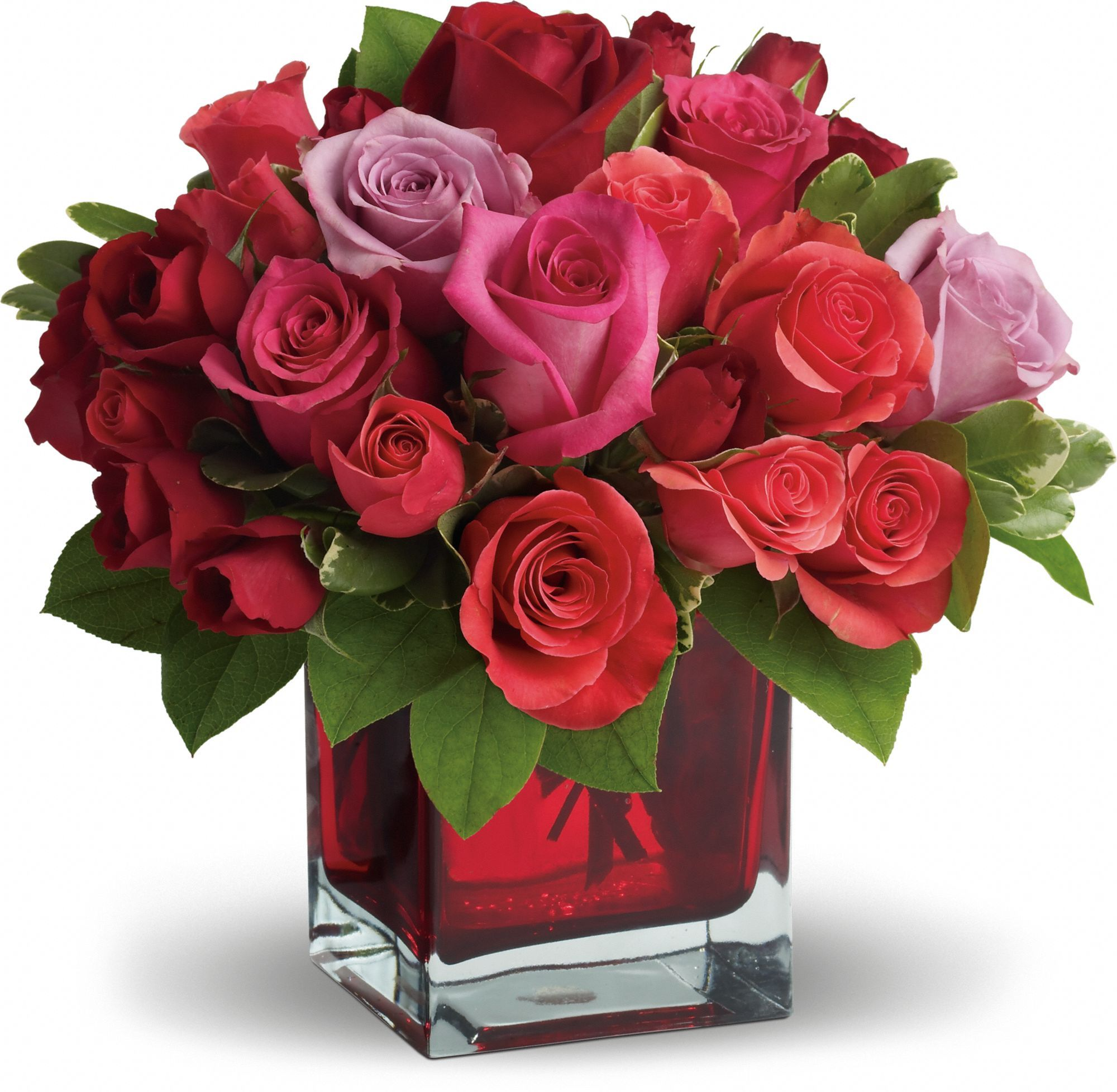 Madly In Love Bouquet With Red Roses By Teleflora Floral Designs