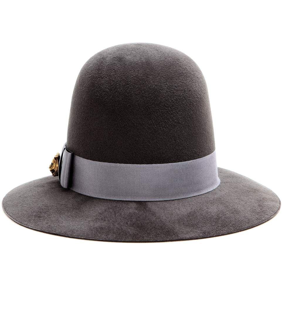 Embellished rabbit-felt hat Gucci JX17RX2a
