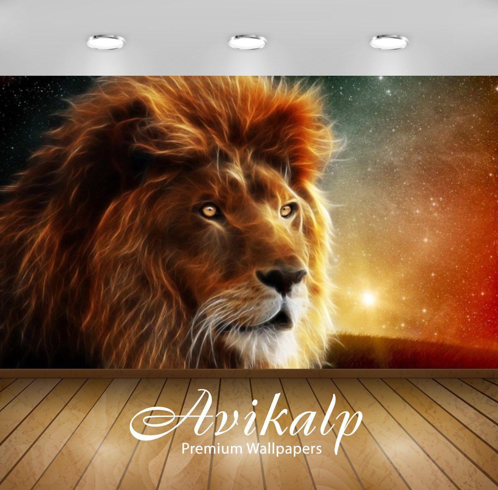 Avikalp Exclusive Awi2796 Lion Digital Art Animal Full Hd Wallpapers For Living Room Hall Kids Roo 3dwallpaperselfa Full Hd Wallpaper Wallpaper Hd Wallpaper