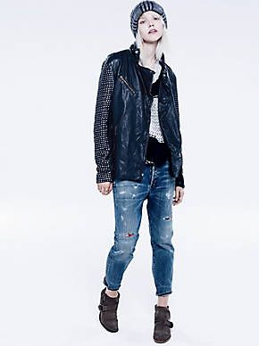 Free People Distressed Patched Boyfriend, $278.00