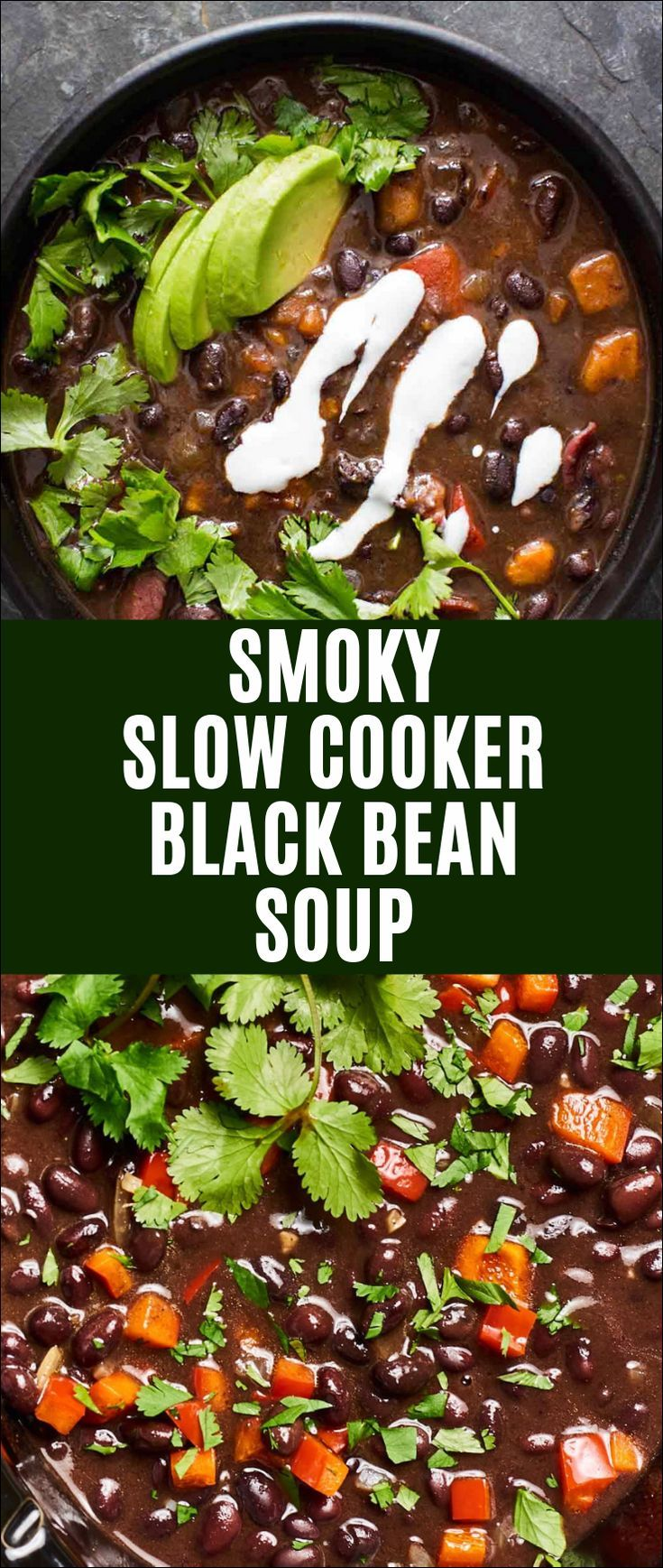Photo of Smoky Slow Cooker Black Bean Soup