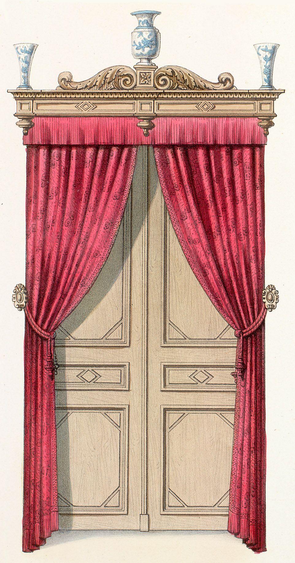 Plate number: L. 54 Pl. 151 Type: Floor Plans  : Interior Elevations : Doors  Style: Renaissance Revival  Enlarge Image