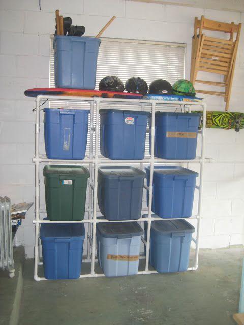 This Frugal Momma DIY Storage Box / Garage Organizer & This Frugal Momma: DIY Storage Box / Garage Organizer | PVC Fun ...