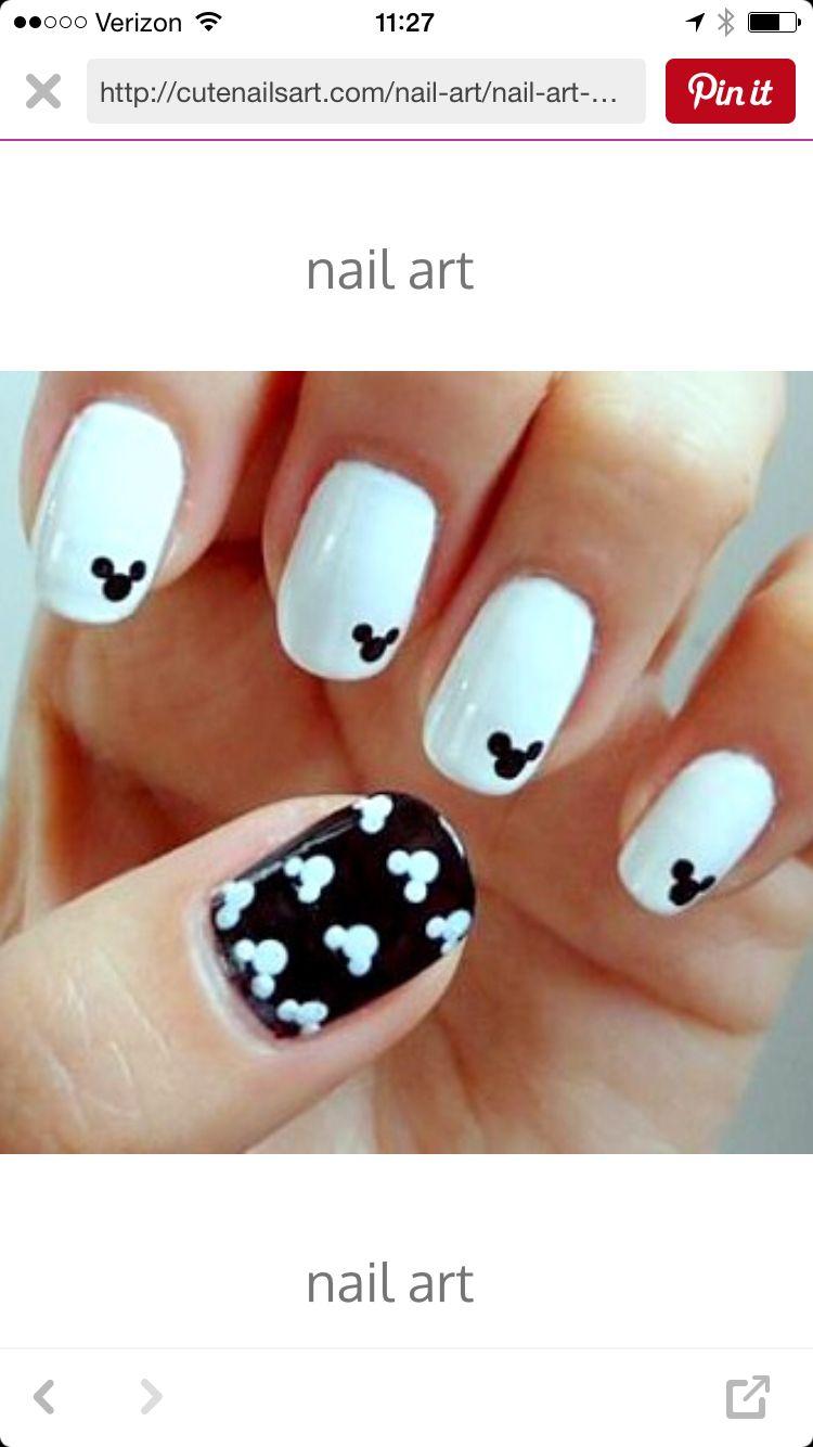 Mickey nails | Nägel | Pinterest | Nagelschere