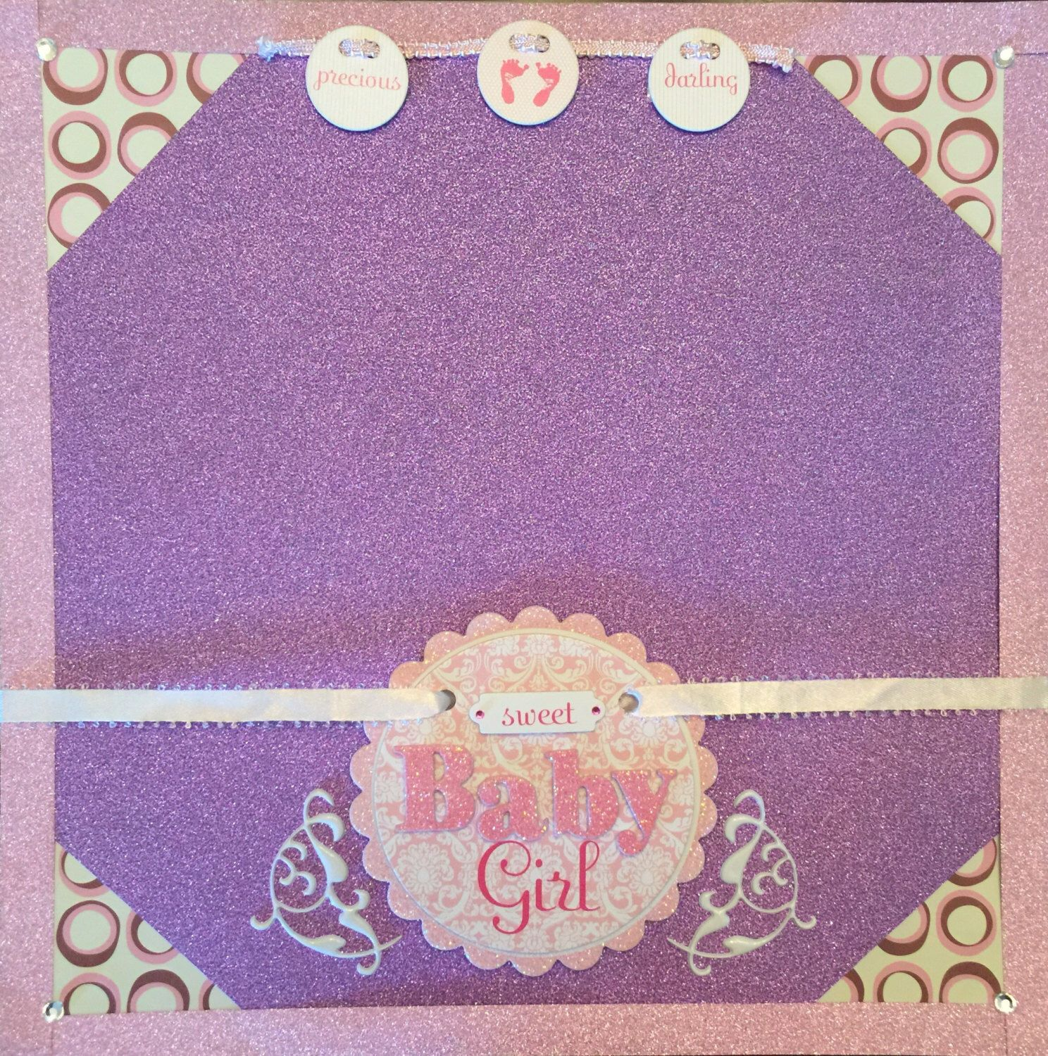 A personal favorite from my Etsy shop https://www.etsy.com/listing/230243125/sweet-baby-girl-12x12-premade-scrapbook