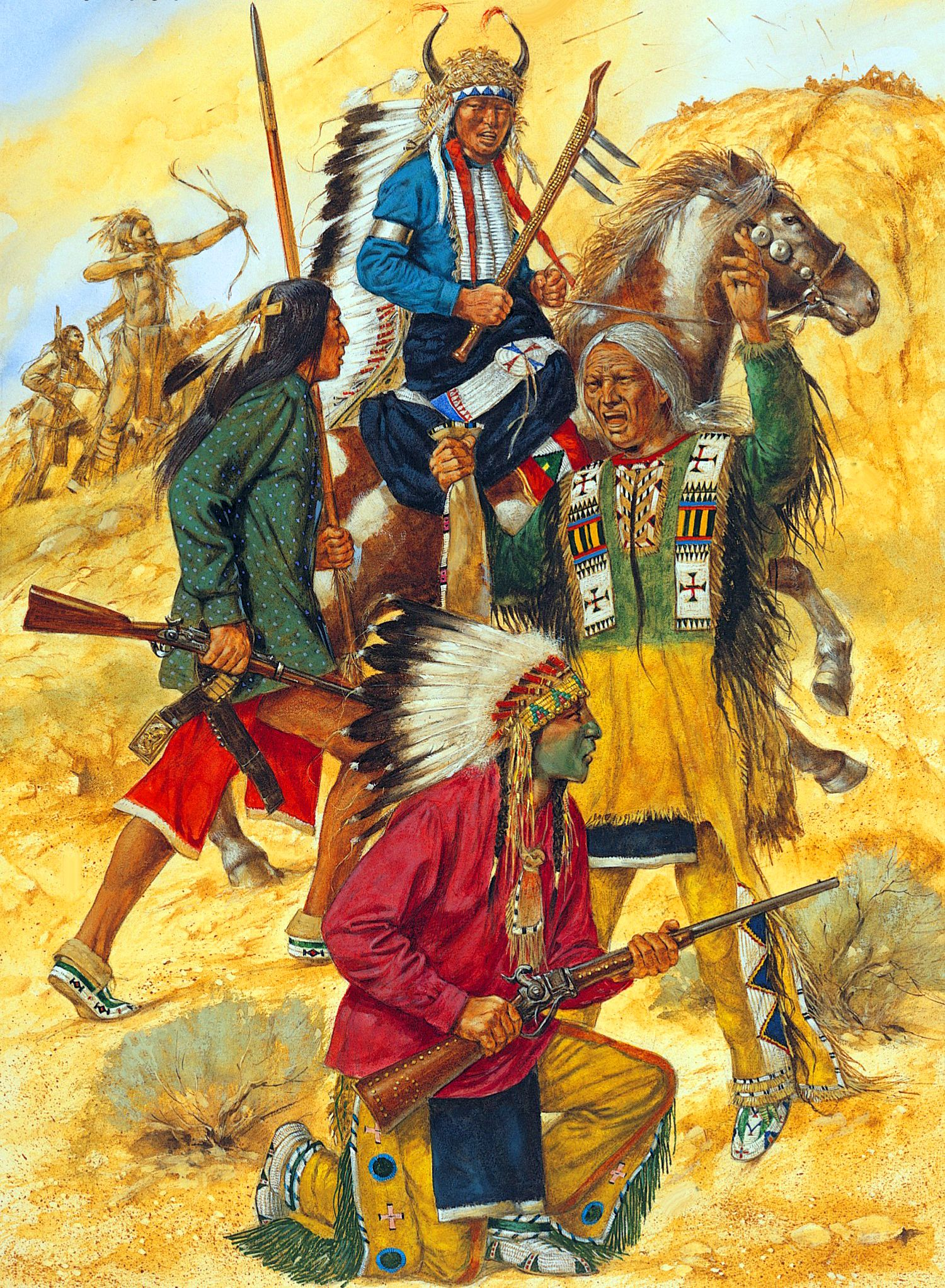 Indian Warriors At The Battle Of Little Big Horn