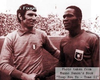 """""""Everybody was asking who would beat Dino Zoff [Zoff had just completed 12 consecutive international games without conceding a goal]. The newspapers mentioned European and South American players, but nobody thought a Haitian could do it. That upset me because I knew I could do it"""", said Manno Sanon. AND HE DID! #zoff #dinozoff #goalie #portero #mannosanon #sanon #haiti"""
