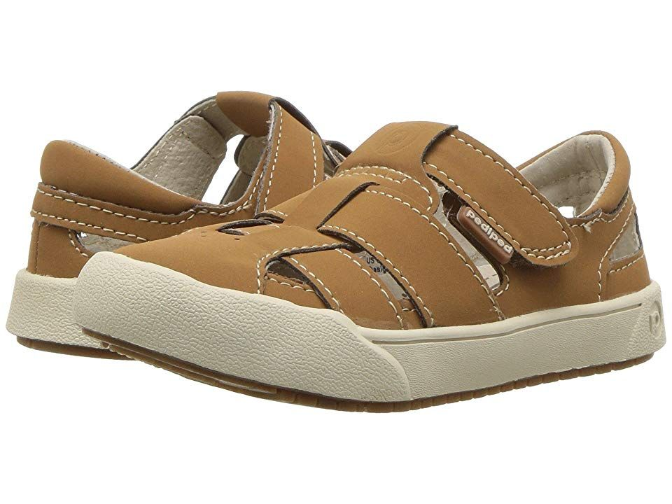 pediped Mark Flex ToddlerLittle Kid Tan Boys Shoes Comfort meets a stylish design with the pediped Mark Flex sandal Awarded the Seal of Acceptance from the American Podia...