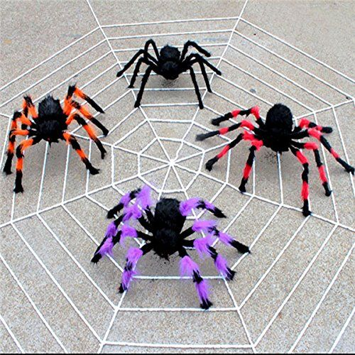 15m 5 Loops White Black Chenille Spider Web Halloween Haunted House Halloween Decoration Prop >>> To view further for this item, visit the image link.