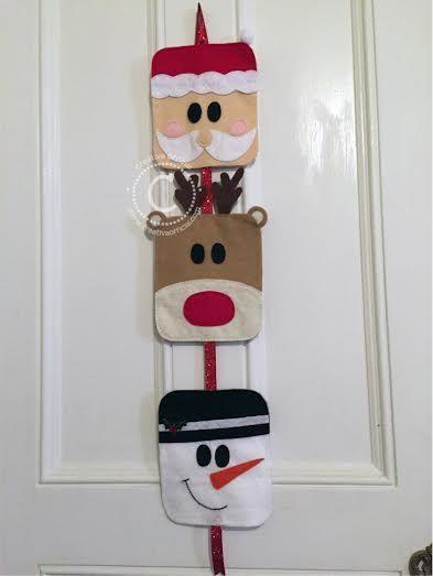 Christmas wall or door decoration wall or door hanging for Puertas decoradas santa claus