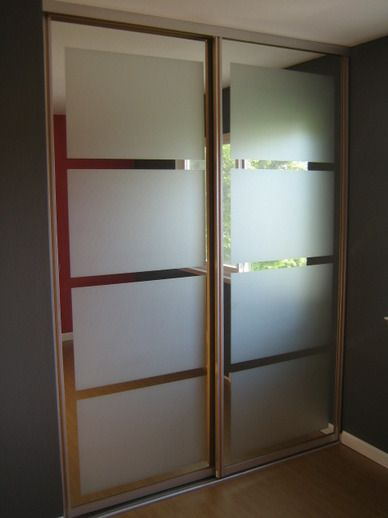 Diy Closet Doors Gl Door Makeover Mirror
