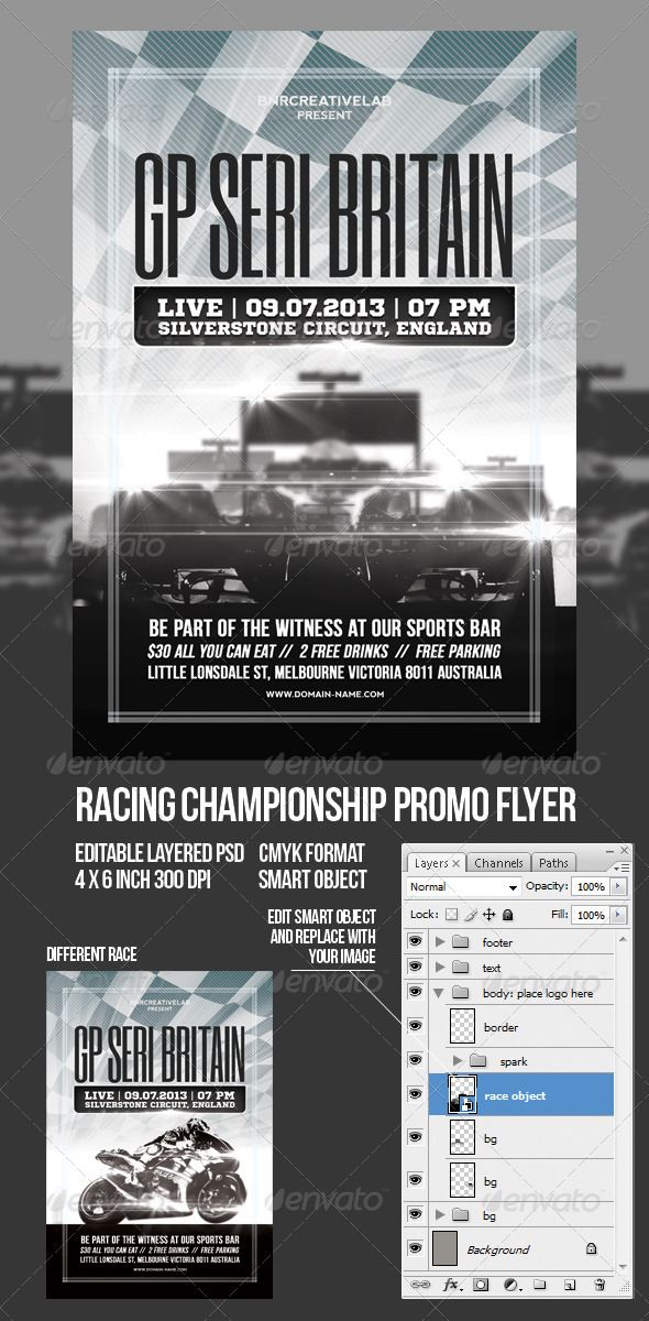 racing event promo flyer template flyer template and event flyers