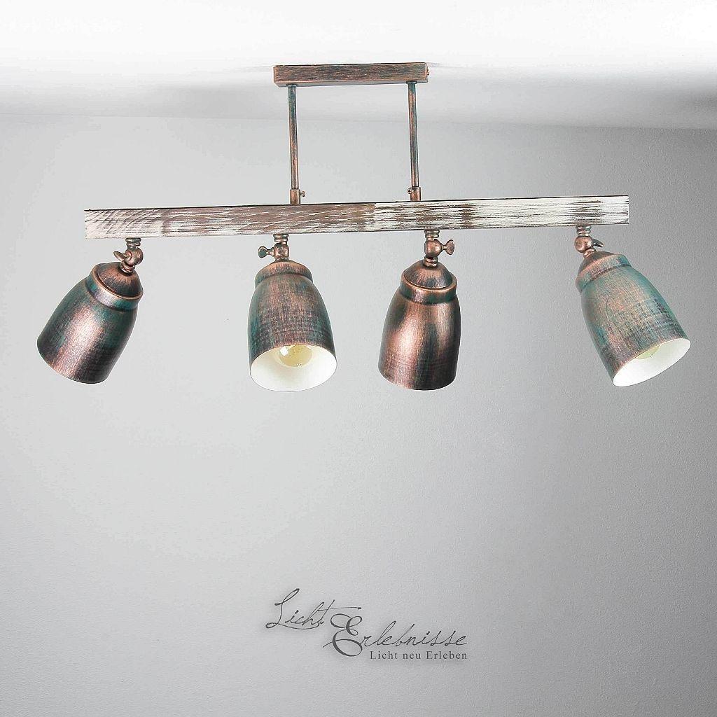 Deckenleuchte Shabby 4x E27 Deckenlampe Vintage Leuchte Decke Wohnzimmer Innen