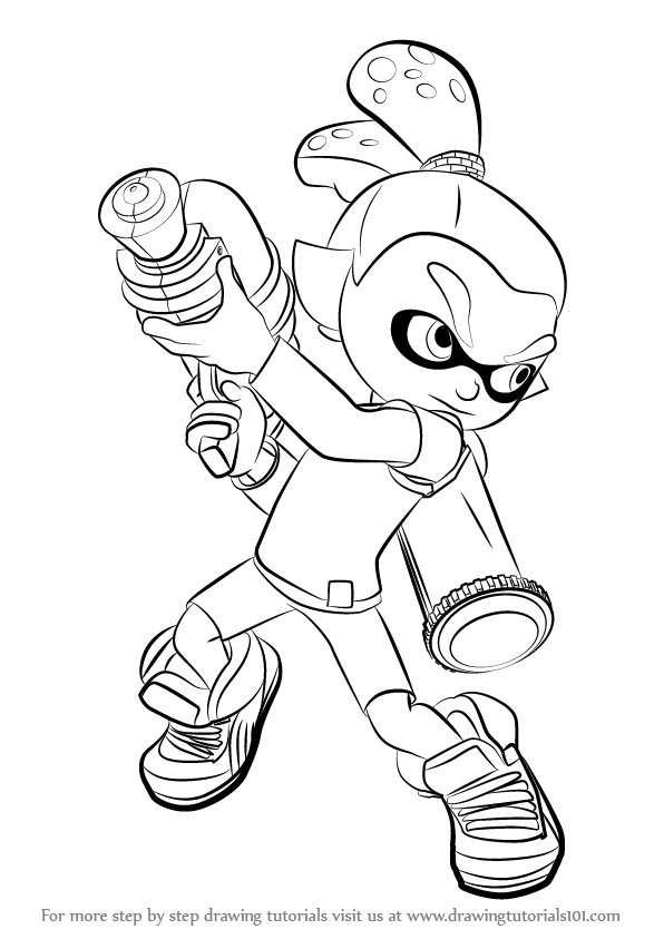 Learn How To Draw Inkling Male From Splatoon Splatoon Step