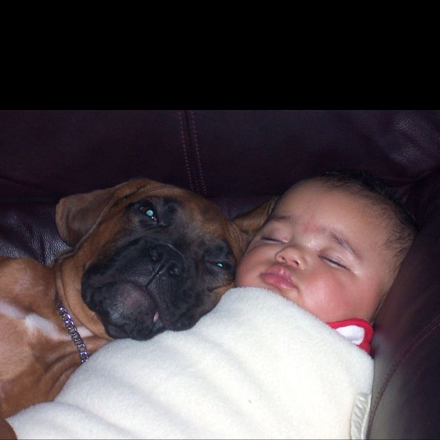 Now that's love!  My two babies