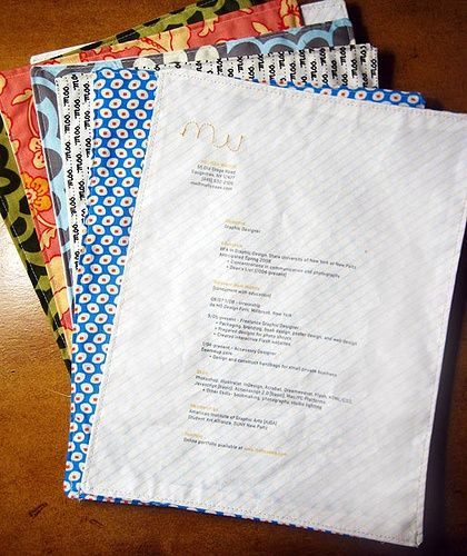 Stitched CV | Resume design inspiration, Resume design, Creative resume