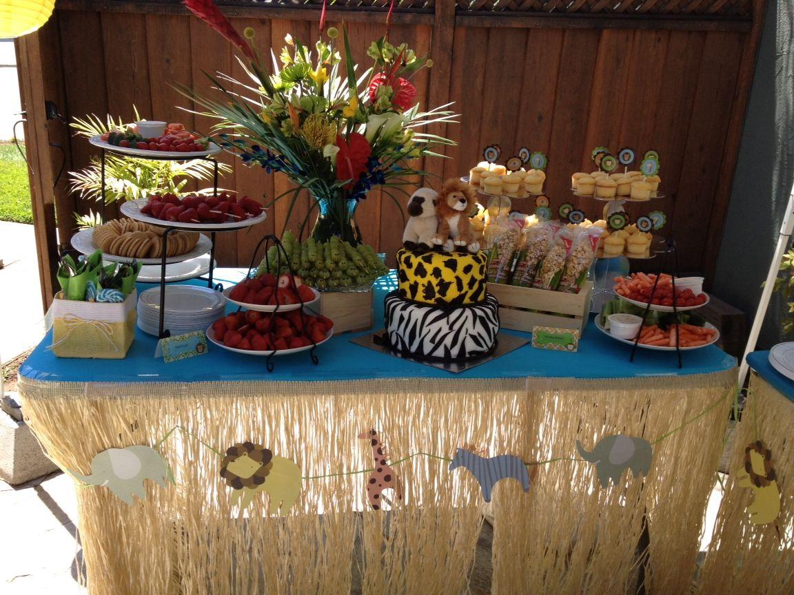Jungle Baby Shower Theme Dessert Table #BFF Benny